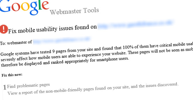 Fix mobile usability issues found on [your domain inserted here]