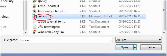 SmarterMail Browse to Contacts File